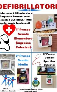 Ubicazione dei Defibrillatori